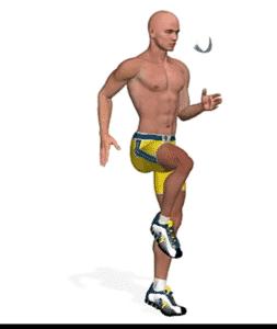 الجري إلى مكان مع ارتفاع ركبتيك
