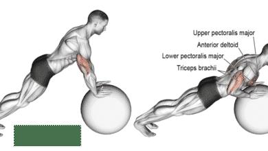 Photo of تمرين الضغط بإستخدام كرة التوازن أو الكرة السويسرية